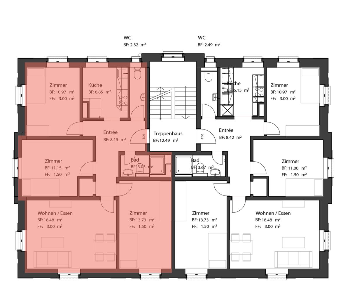 Wohnung Säntis Grundriss
