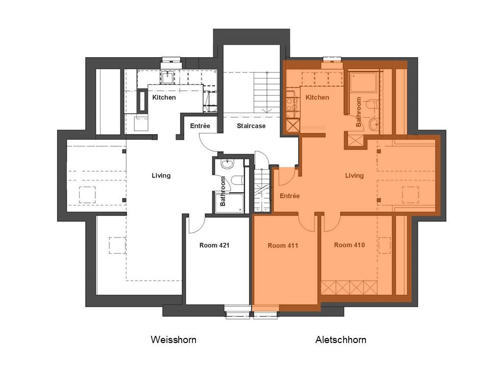 Wohnung Aletschhorn Grundriss