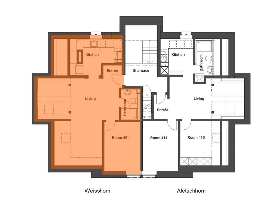 Wohnung Weisshorn Grundriss